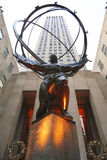 Atlas statue by Lee Lawrie in front of Rockefeller Center in midtown Manhattan Royalty Free Stock Image