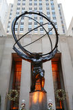 Atlas statue by Lee Lawrie in front of Rockefeller Center in midtown Manhattan Royalty Free Stock Photography