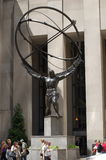 Atlas Statue at Rockefeller Center, New York City Stock Photos