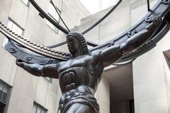 Atlas statue at Rockefeller Center Stock Photos
