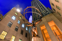Atlas Statue - Rockefeller Center, New York City Royalty Free Stock Photography