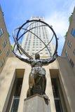 Atlas-Statue in Rockefeller-Mitte, Manhattan, NY, USA stockbild