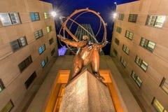 Atlas-Statue - Rockefeller-Mitte, New York City lizenzfreies stockfoto