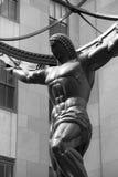 Atlas-Statuen-Nahaufnahme, New York lizenzfreies stockbild