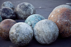 Atlas Stones. Well used atlas stones, used in strength training Stock Photo