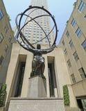 ATLAS Sulpture sur la 5ème avenue, New York City Image libre de droits