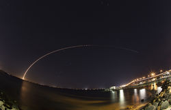 Atlas V launch from Cape Canaveral Royalty Free Stock Image