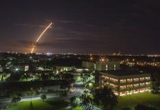 Atlas V launch, Melbourne, Florida. Long exposure shot of Atlas V launch over Melbourne, Florida Royalty Free Stock Image