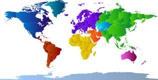 Atlas van Continenten Stock Afbeelding
