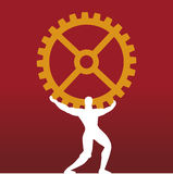 Atlas (vector). Atlas supporting industry (vector), the gear represents the industry vector illustration