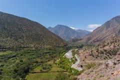 Atlasbergen in Marokko, Noord-Afrika Royalty-vrije Stock Afbeeldingen