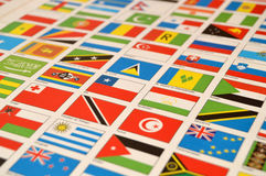 Atlases and state flags, world,state flags, world Stock Image