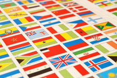 Atlases and state flags, world,state flags, world Stock Photography
