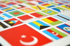 Atlases and state flags, world,state flags, world Royalty Free Stock Images