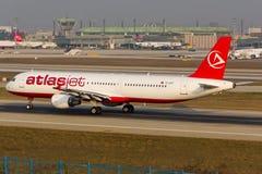 Atlasjet空中客车A320 库存照片
