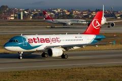 Atlasjet Airbus A319. TC-ATD Atlasjet Airbus A319-112 Royalty Free Stock Photo