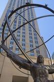 Atlasstatue auf fünfter Allee in Manhattan Lizenzfreie Stockfotos