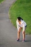 Atleet die een lopende rust nemen stock afbeelding