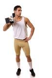 Atleet met Startblok Stock Foto