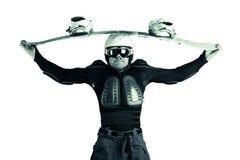 Atleet snowboarder Royalty-vrije Stock Foto's