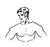 Atleta stock de ilustración