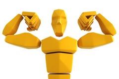 atleta 3d simbólico Fotos de Stock