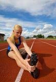 Atleta adolescente imagenes de archivo