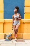 Atleta africano de la mujer Imagenes de archivo