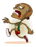 atleta afrykański maraton Fotografia Royalty Free