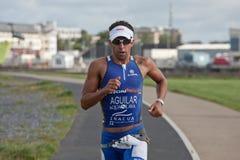 Atleta Antonio Jesús Aguilar Conejo (496) Fotografía de archivo libre de regalías
