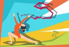 Atleta artístico Sport Competition de la muchacha de la gimnasia Imagen de archivo libre de regalías