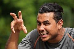 Atleta asustadizo del varón adulto Imagen de archivo