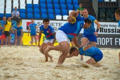 Atleta azerbaiyano en la ofensiva Fotografía de archivo