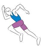 atleta bieg Zdjęcie Royalty Free