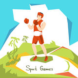 Atleta Boxer Sport Competition de la caja Foto de archivo libre de regalías