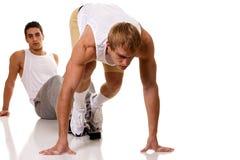 Atleta che Sprinting fotografia stock libera da diritti