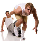 Atleta che Sprinting Fotografie Stock