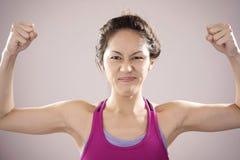 Atleta chino asiático que siente motivado Imagen de archivo