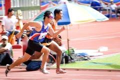 Atleta cieco Fotografia Stock