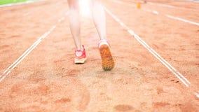 Atleta cieków biegać fotografia royalty free