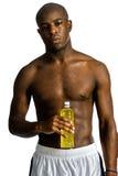Atleta com bebida da energia imagens de stock royalty free