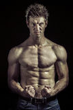 Atleta com grande corpo Fotos de Stock Royalty Free