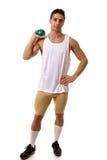 Atleta con il colpo Immagini Stock