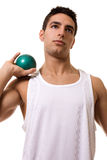 Atleta con il colpo Fotografie Stock Libere da Diritti