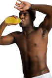 Atleta con la bebida de la energía Imagen de archivo libre de regalías