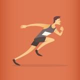 Atleta corriente Sprinter Sport Competition Foto de archivo libre de regalías
