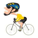 Atleta da bicicleta ilustração royalty free