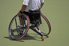 Atleta da cadeira de rodas Fotografia de Stock