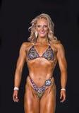 Atleta Dazzles de la aptitud en bikini Imagen de archivo libre de regalías