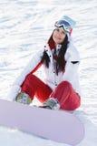 Atleta de la foto del invierno con los vidrios Imagen de archivo